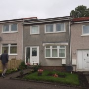 External Wall Insulation Glasgow Before Work Montgomeriston Pl