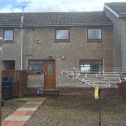 External Wall Insulation Glasgow Before Work Pladda Avenue